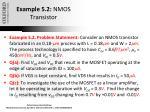 example 5 2 nmos transistor