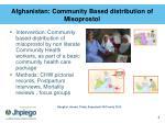 afghanistan community based distribution of misoprostol