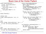 basic use of the visitor pattern