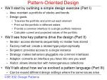 pattern oriented design