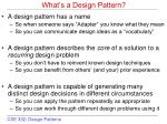 what s a design pattern