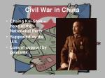 civil war in china1