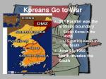 koreans go to war