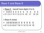 base 5 and base 8