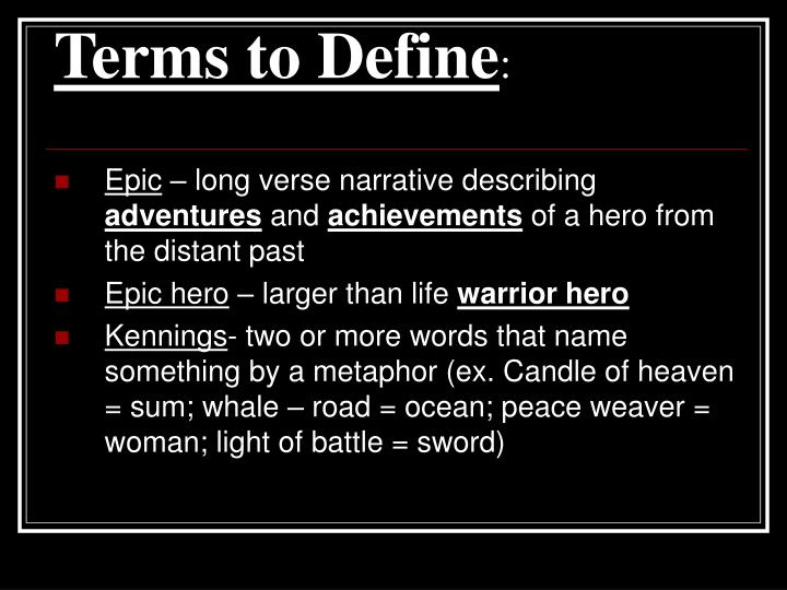 Terms to define1