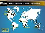 major copper gold operations