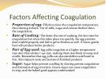 factors affecting coagulation