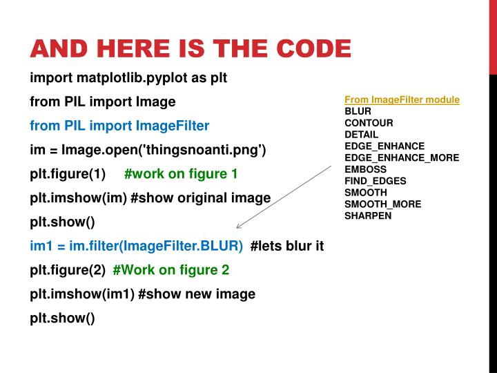 And here is the code