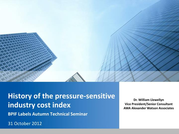 history of the pressure sensitive industry cost index n.