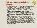critical accountability issue