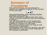 summary of procedures3