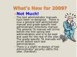 what s new for 2009