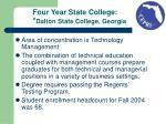 four year state college dalton state college georgia
