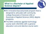 what is a bachelor of applied science degree