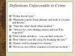 definitions unfavorable to crime