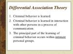 differential association theory1