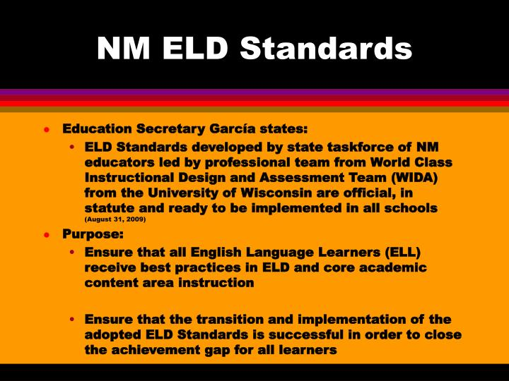 nm eld standards n.