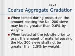 coarse aggregate gradation