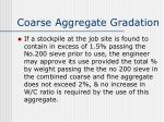 coarse aggregate gradation1