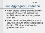 fine aggregate gradation