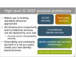high level id wsf protocol architecture