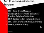 acculturation assimilation program