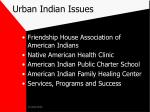 urban indian issues