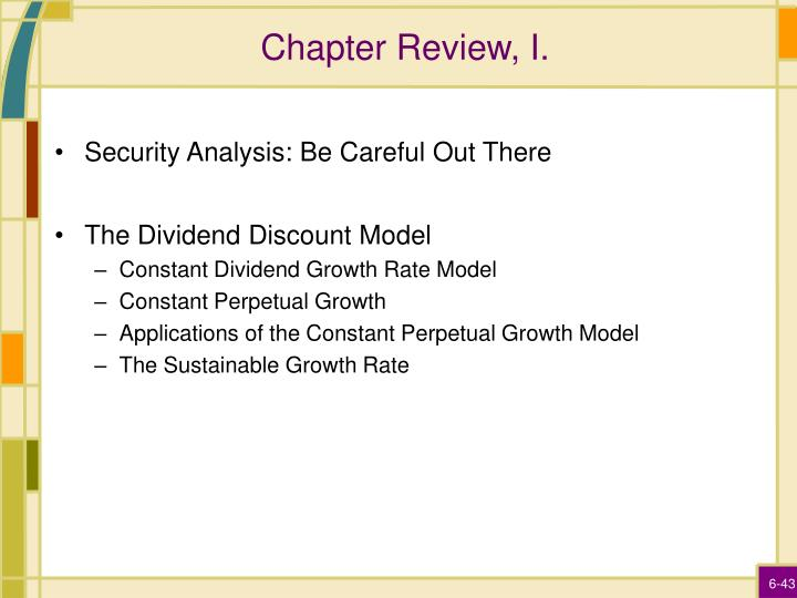 Chapter Review, I.