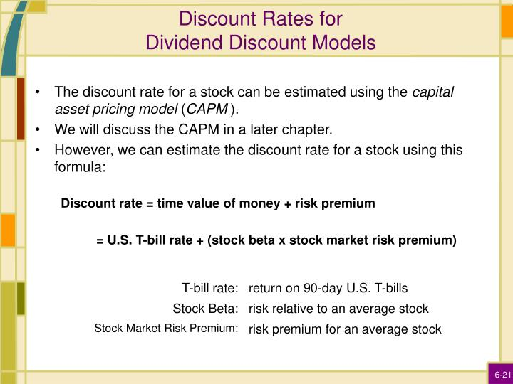 Discount Rates for