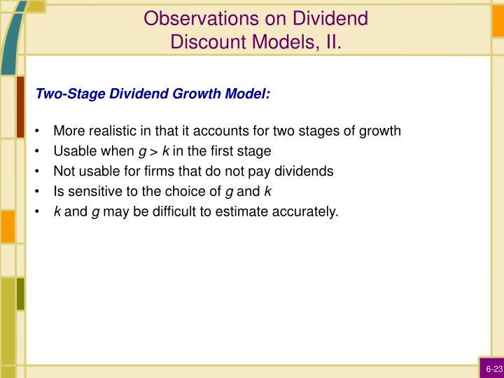 Observations on Dividend