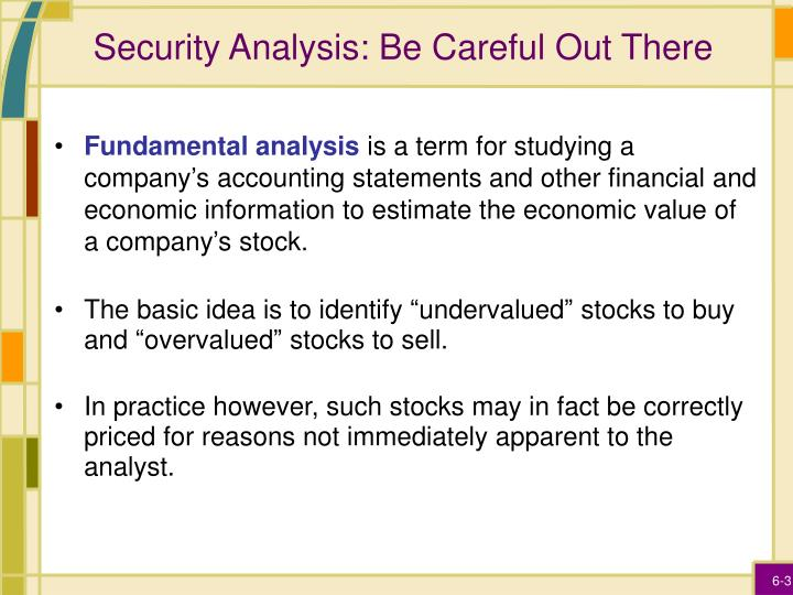 Security analysis be careful out there