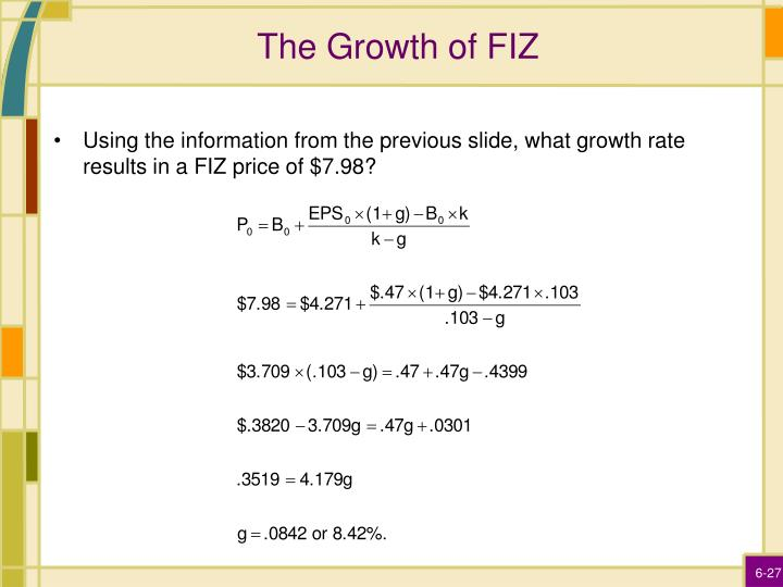 The Growth of FIZ