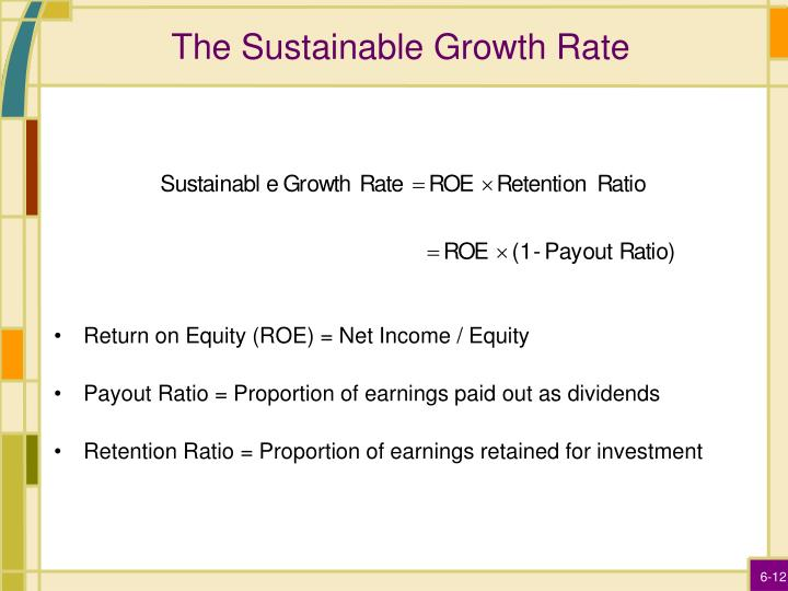 The Sustainable Growth Rate