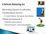 a delicate balancing act