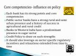 core competencies influence on policy