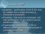 goals for bsp