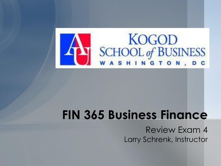 fin 365 business finance n.