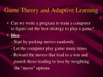 game theory and adaptive learning