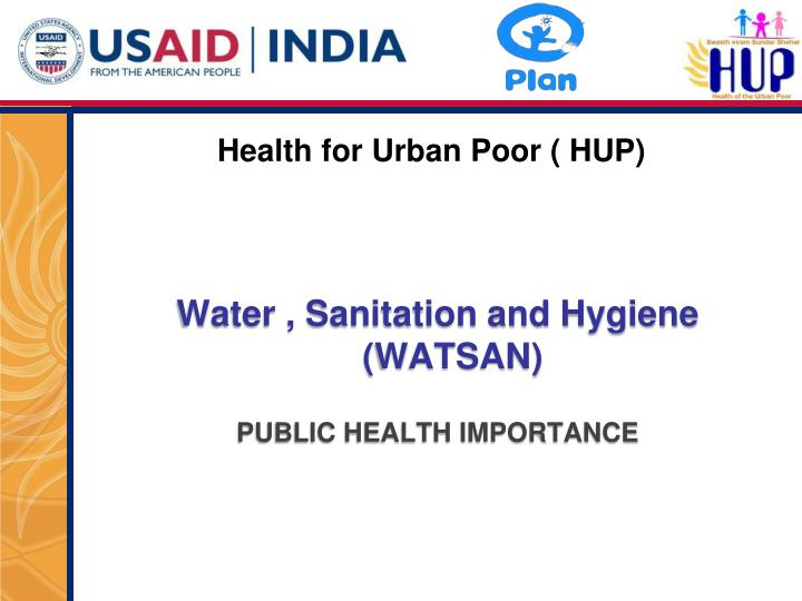 health for urban poor hup n.