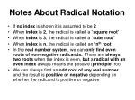 notes about radical notation