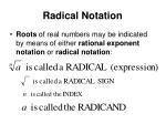 radical notation