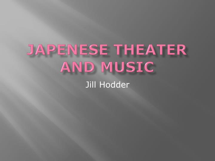japenese theater and music n.