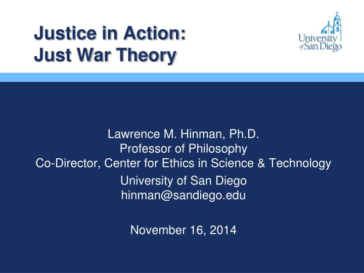 justice in action just war theory n.