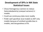 development of spfs in wa state statistical issues