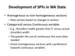 development of spfs in wa state