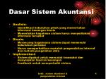 dasar sistem akuntansi