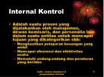 internal kontrol