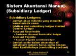 sistem akuntansi manual subsidiary ledger