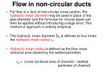 flow in non circular ducts