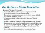 dei verbum divine revelation